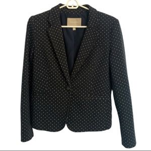 Banana Republic Polka Dot Navy Blazer Size 4